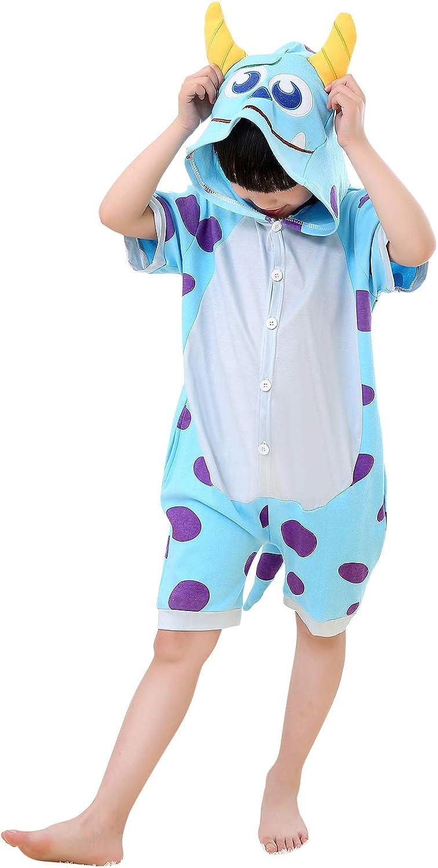 Cosplay /& Party YAOMEI Kids Onesies Kigurumi Pyjamas Summer 2020 Girls Boys Short Sleeves Unisex Animal Sleepsuit Nightwear 3D Cartoon Hoodie Halloween Costume Clothing Christmas