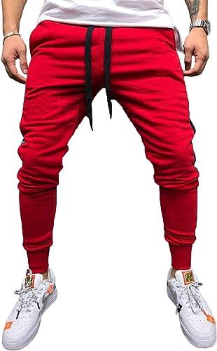 Pantalones De Chandal Ajustados Casuales Clasico Cintura Hombre Para Elastica Con Cordon Elastico Pantalones Flojos Pantalones De Chandal Gym Jogger Fitness Chandal Con Bolsillos Amazon Es Ropa Y Accesorios