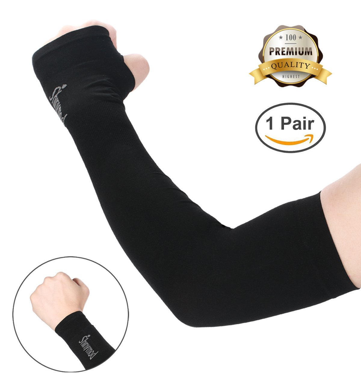 UV Protection Cooling Arm Sleeves Men Women Sunblock Cooler Protective White Lot