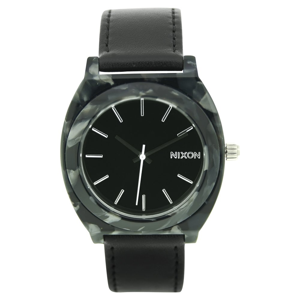 Nixon Women's A328-039 Leather Synthetic with Black Dial Watch