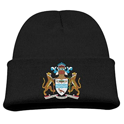 OQHO12 Coat of Arms of Guyana Kids Hat Warm Soft Fashion Cute Knitted Cap for Autumn Winter