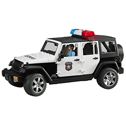 Amazon Com Jeep Rubicon Police Car With Policeman Toys Games
