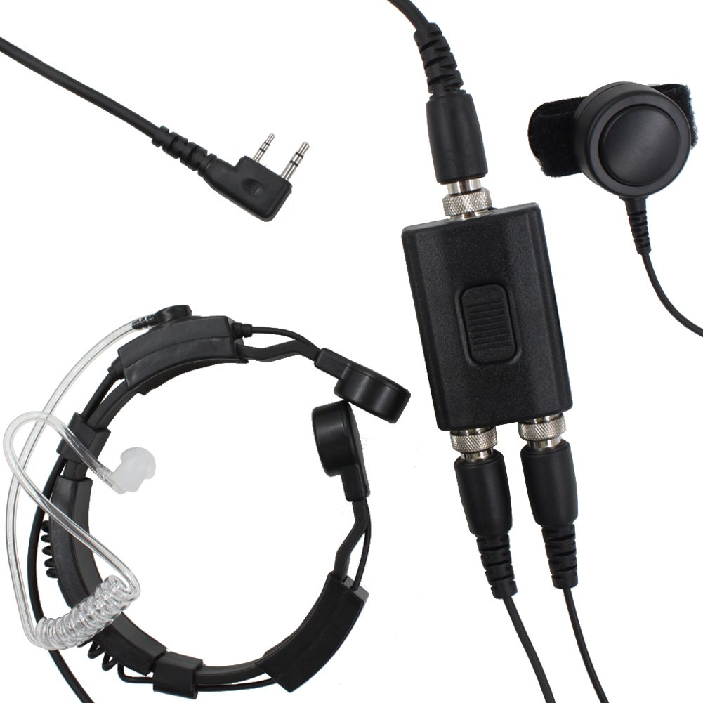 amazon com kenmax military police equipment throat mic air tube