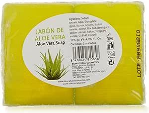 Bionatural 10780 - Pack de 2 jabones de aloe vera y glicerina, 125 gr: Amazon.es: Belleza