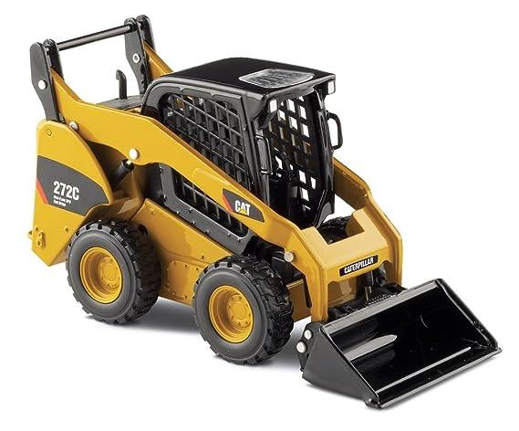 Caterpillar Skid Steer >> Amazon Com Norscot Cat 272c Skid Steer Loader With Work Tools 1 32