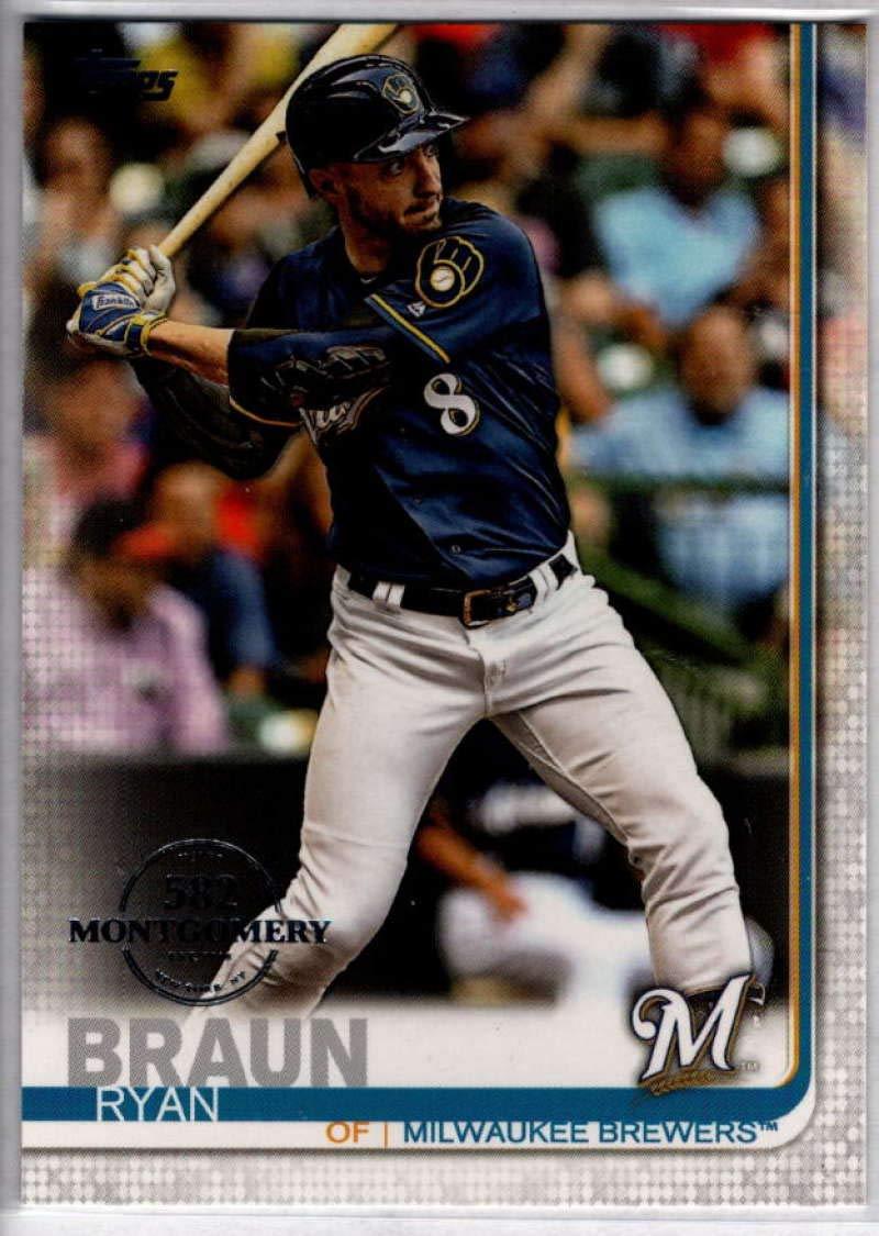 Baseball MLB 2019 Topps 582 Montgomery Club Box Set #614 Ryan Braun Brewers