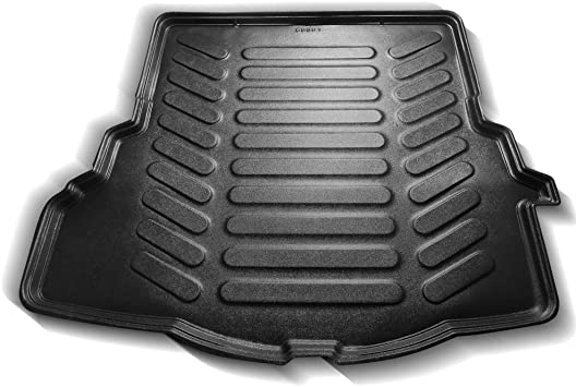 Car Mats Bespoke Corsa E boot mat liner custom tailored fit black 2014-2019