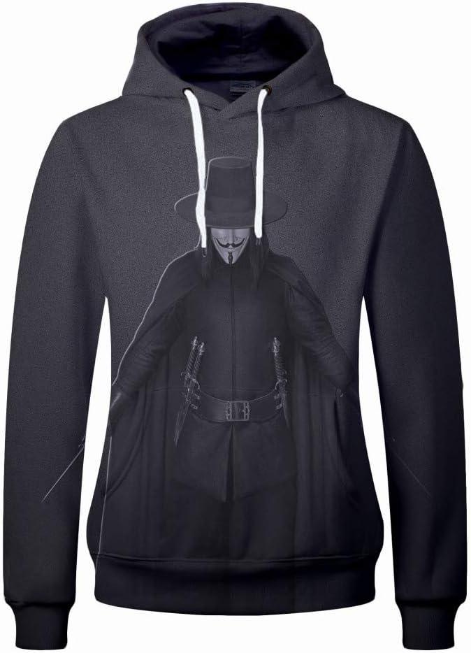 jiuyaomai Sweatshirt Suéter con Capucha Deportivo de impresión 3D ...