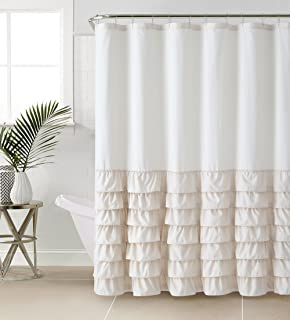 VCNY Melanie Ruffle Shower Curtain Taupe