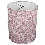 Hardback Linen Drum Cylinder Lamp Shade 8'' x 8'' x 8'' Spider Construction [ Heart Pink Love ]