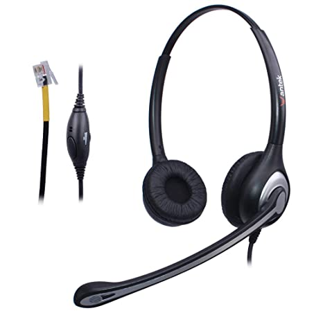 Cuffie Telefono Fisso Binaurale con Microfono a Cancellazione del Rumore e  Controllo del Volume 91f165c91418