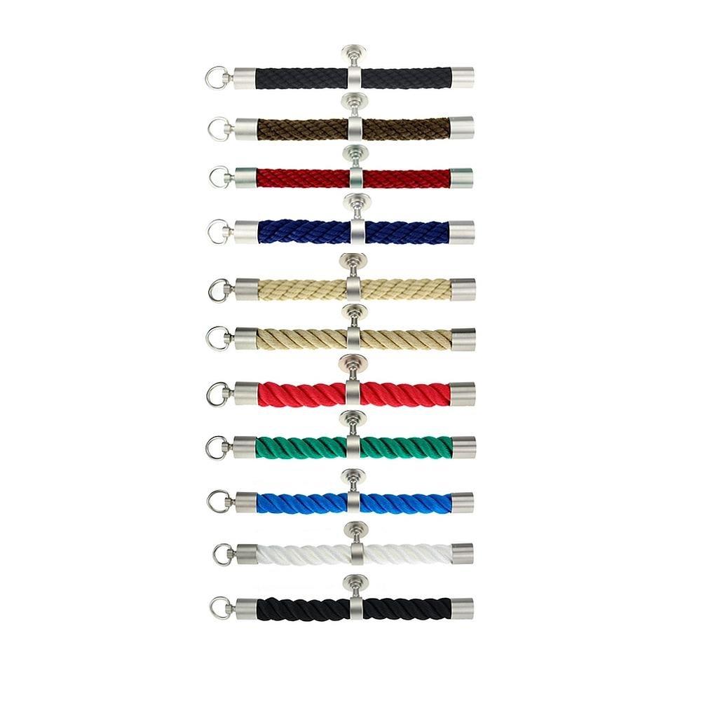 Kanirope/® Seilendkappe mit Ring Nickel matt f/ür /ø38mm /ø40mm Handlaufseile Absperrseile Treppenseile