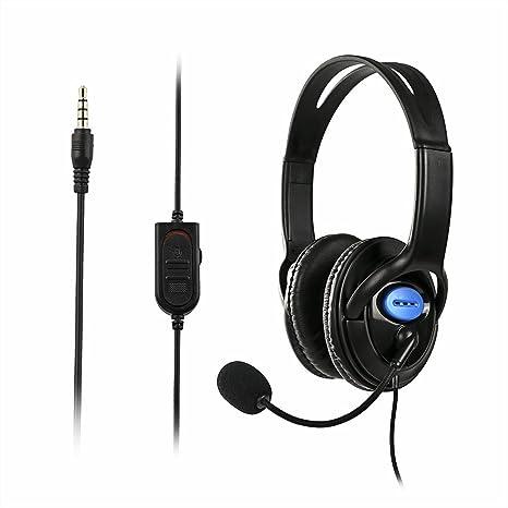 ADSRO - Auriculares de Diadema con micrófono para Sony PS4 Playstation 4: Amazon.es: Electrónica