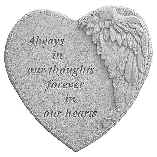 Kay Berry 8905 Winged Heart Always in Our Thoughts... Decorative Stone, Multicolor