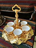 13 Pieces Vintage Style Ottoman Turkish Greek Arabic Coffee Espresso Serving Cup Gift Set, Gold