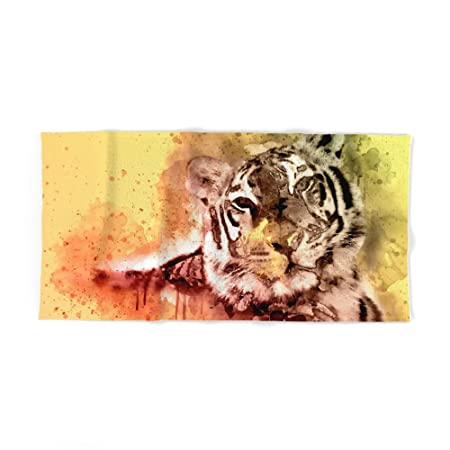 Society6 Tiger Watercolor Painted Art Cool Splatter Design