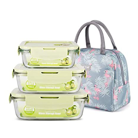 Amazon.com: Lunch Boxes Bento Box - Fiambrera de cristal ...