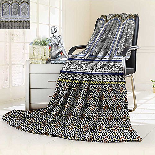 (Throw Blanket Nostalgic with Stone Carving and Motifs Ottoman Empire Artsy Warm Microfiber All Season Blanket for Bed or Couch)