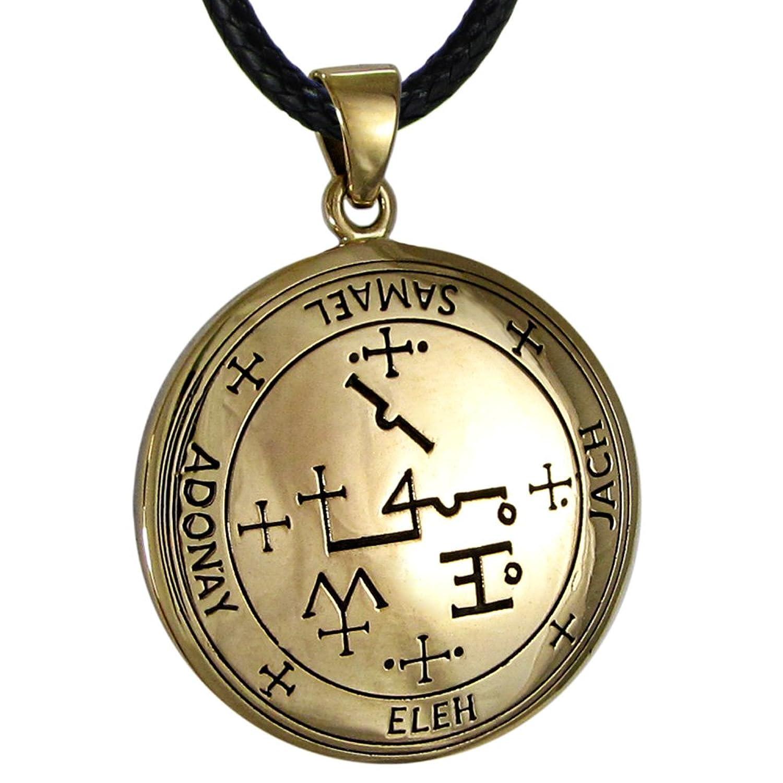 Bronze Sigil of Archangel Samael Talisman Necklace