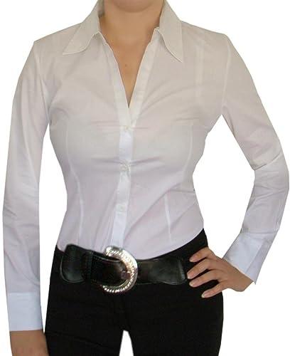 Diva-Mode - Body estilo blusa elegante, cuello en V