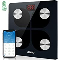 RENPHO Rechargeable Smart Scale Digital Weight and Body Fat USB Weight BMI Scale, Body Composition Monitor with…