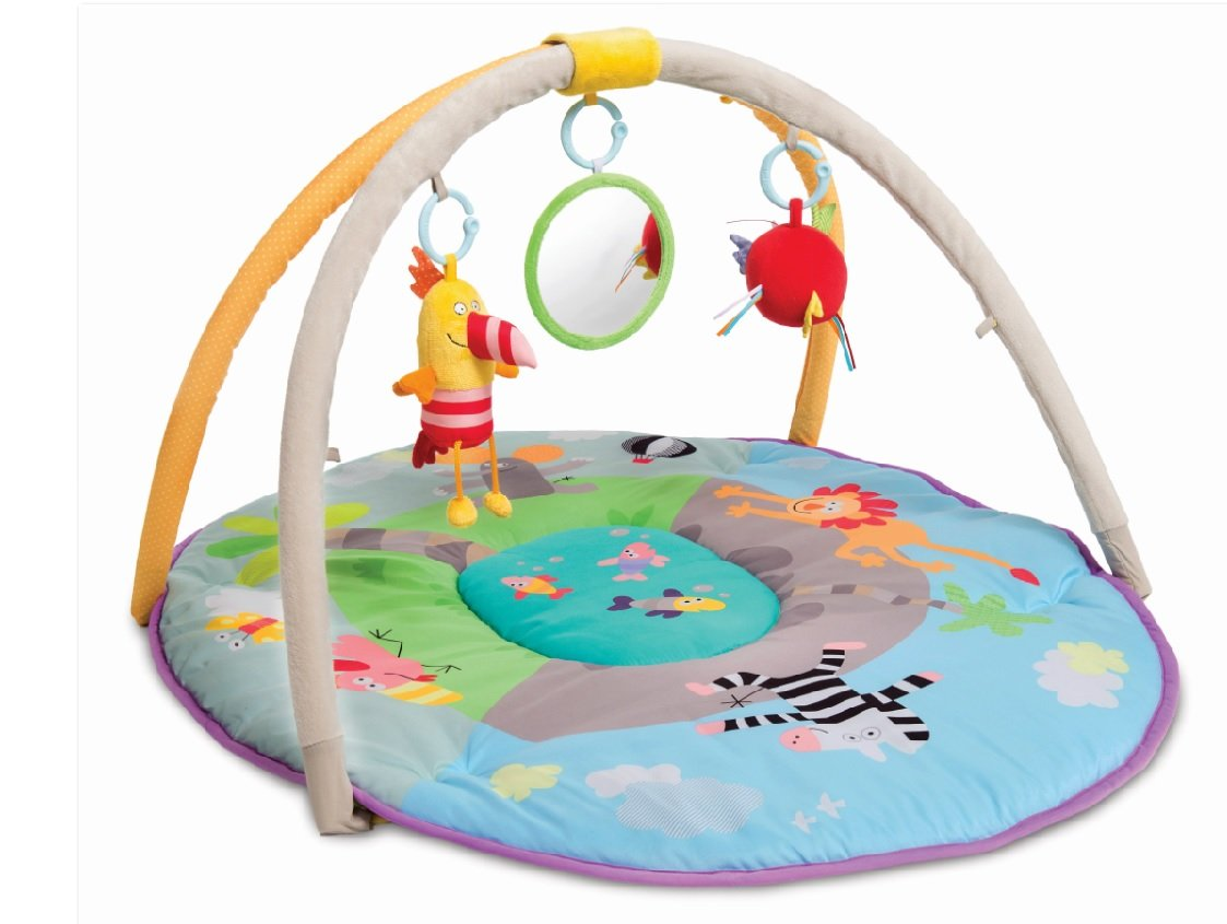Taf Toys Jungle Pals Gym And Play Mat Toddler Activity Bed