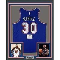 $599 » Framed Autographed/Signed Julius Randle 33x42 New York Knicks Blue Basketball Jersey Fanatics COA
