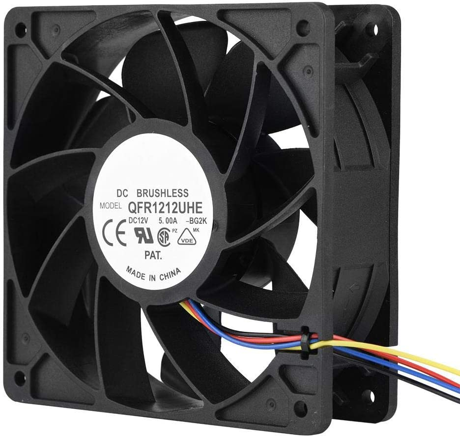 Wendry Industrial Grade Computer Cooling Fan,DC 12V 5.0A 7500RPM 4 Pin Connector Cooling Fan Replacement for Antminer S7 S9