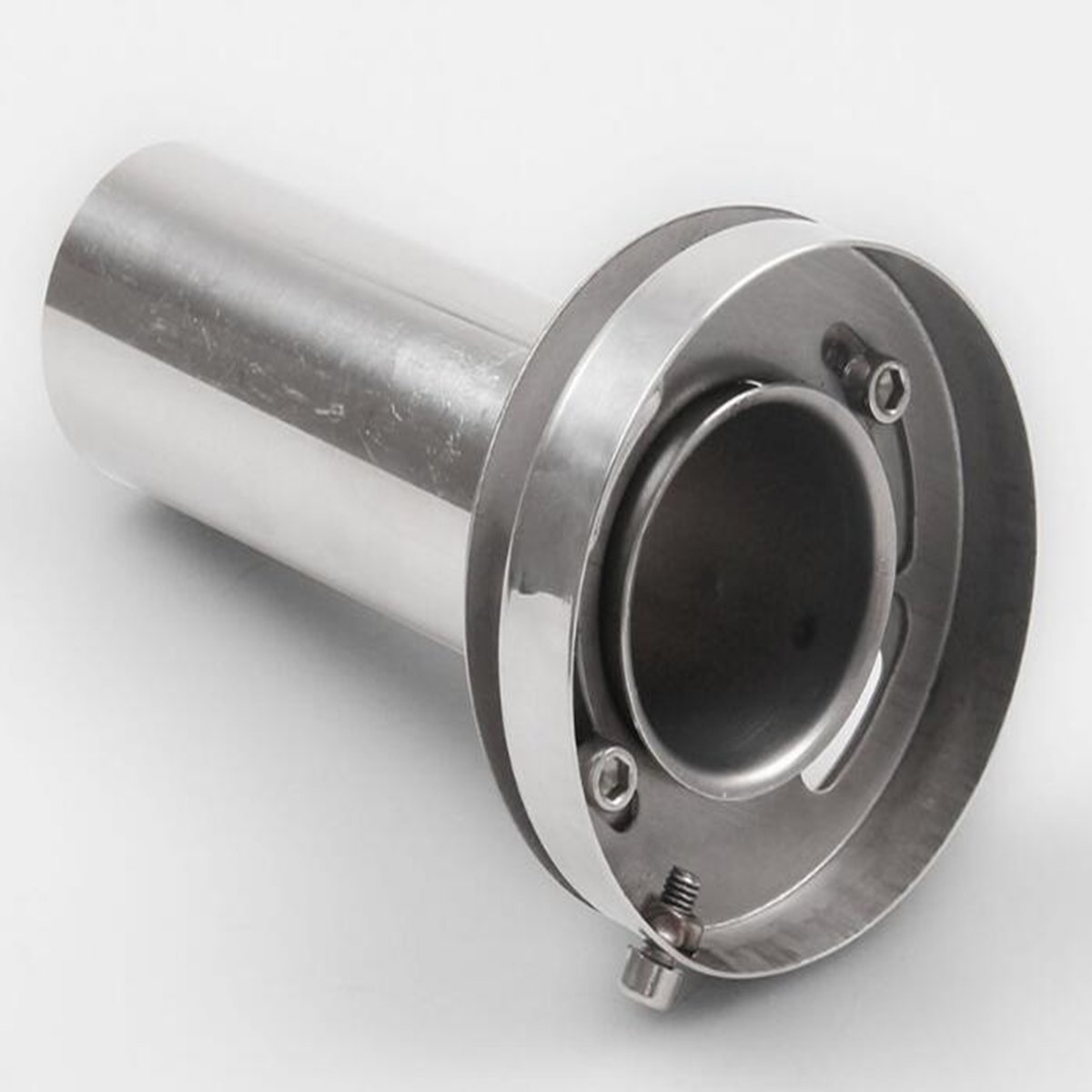 SUNDELY® 4'' Universal Hi-Q Round Tip Exhaust Muffler insert Removable Silencer Stainless 493316