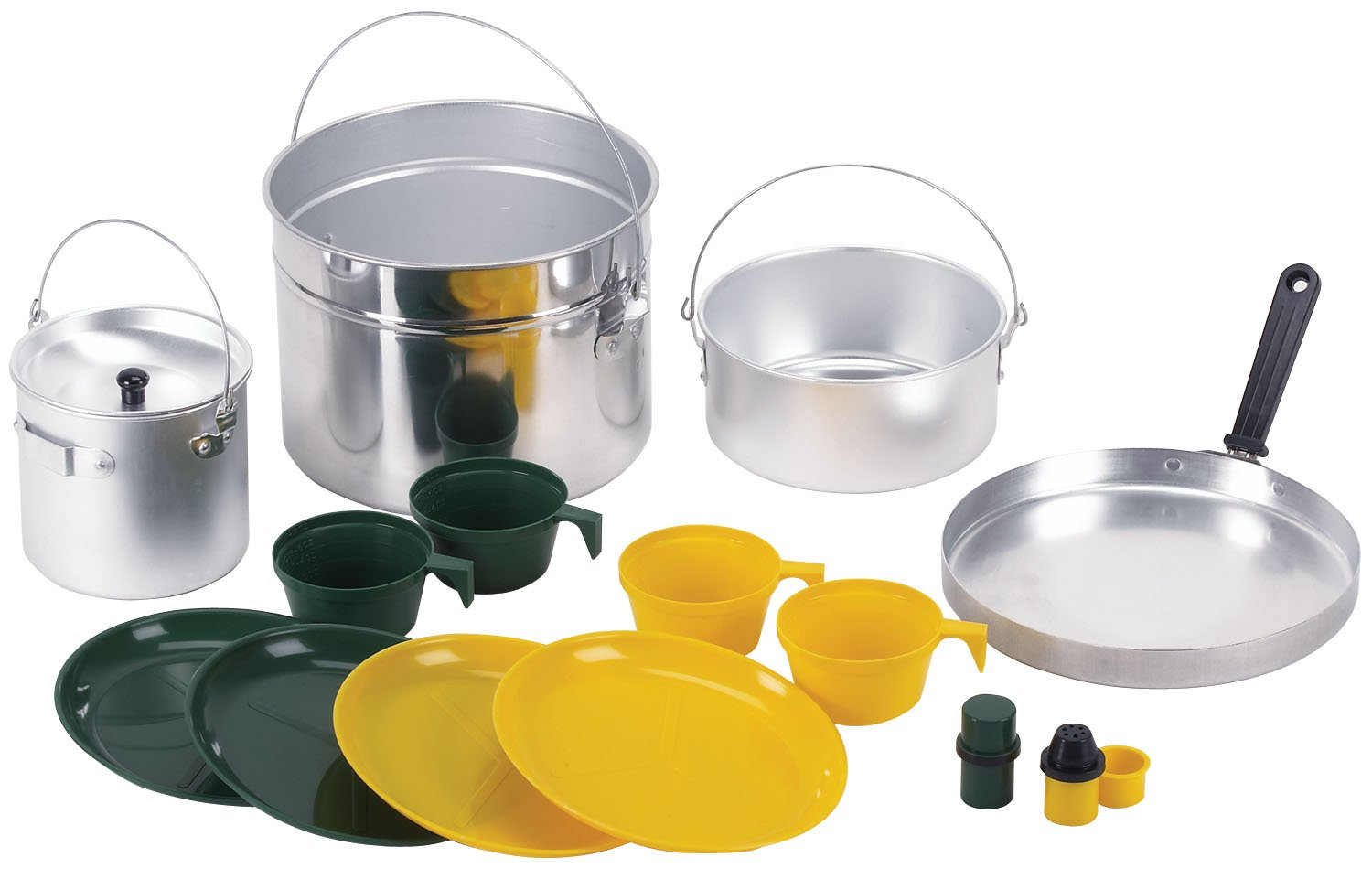 Stansport Deluxe 16 piece Four Party Aluminum Cook Set 312