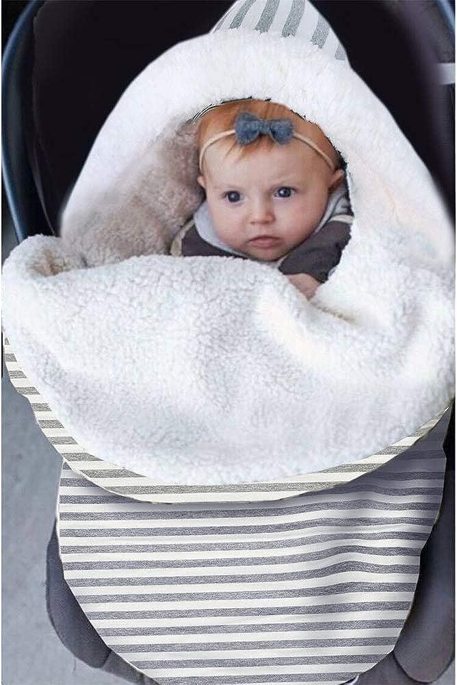 IEUUMLER Winter Saco de Dormir Unisex para Beb/és Manta de Forro Polar Suave y c/álida Envolvente Reci/én Nacido Sleeping Bag IE131