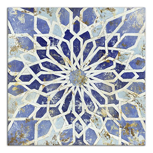 Moroccan Mosaic  Canvas Wall Art - moroccan wall decor