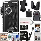 Nikon KeyMission 80 Wi-Fi Shock & Waterproof Digital Camera Tripod Adapter + 32GB Card + 5000mAh Battery Charger + Case + Selfie Stick + Kit