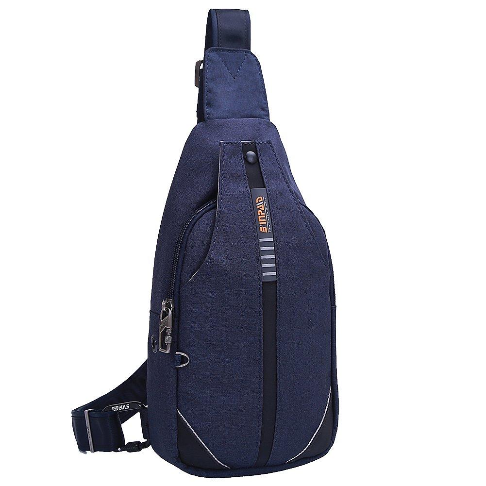 EGOGO Men's Anti-Theft Sling Bag Chest Shoulder Backpack Cross Body Pack Bags for Hiking Camping Gym Cycling Biking School Bag E402-1