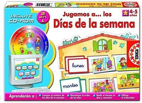 Educa Borrás Jugamos A Los Dias De La Seman: Amazon.es: Juguetes y juegos