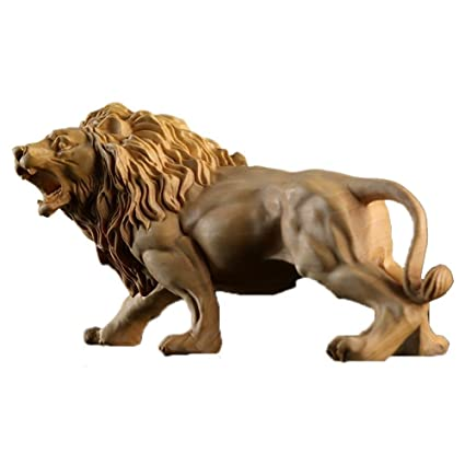 Amazon arctic star boxwood carving home lion ornaments gift