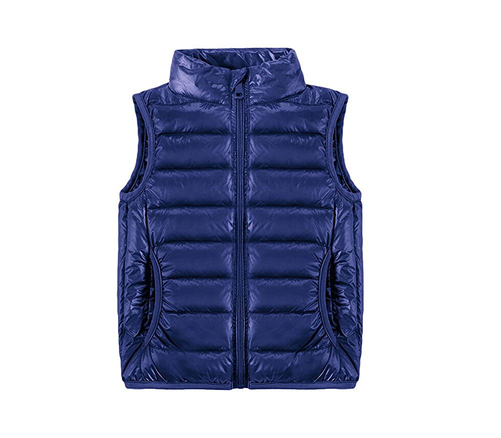 LKOUS Kids Down Outerwear Vests Winter Sleeveless Coat Jacket 100-140cm