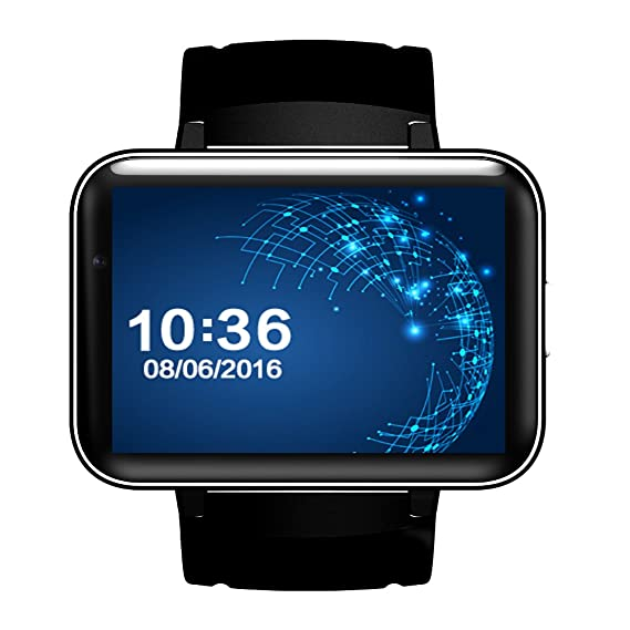 Amazon com: Newest DM98 Android 4 4 Smart Watch Phone 2 2