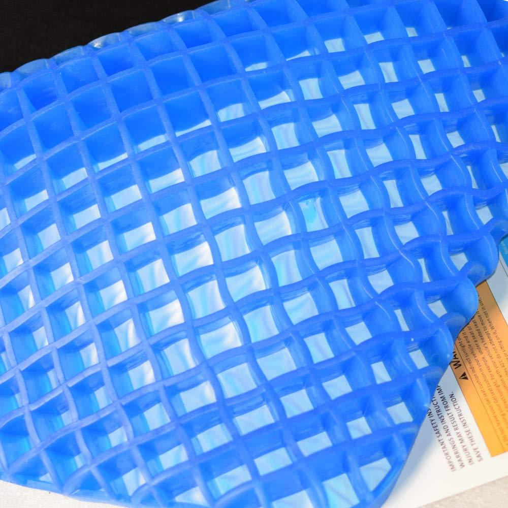 Amazon.com: Cojín de asiento de gel con soporte de asiento ...