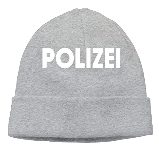 991efbc653e Amazon.com  Kyliel Soft Beanies Cap-Polizei Classic Hip-Hop Beanie Hat Cap  Unisex Warm Knitted Hat  Clothing