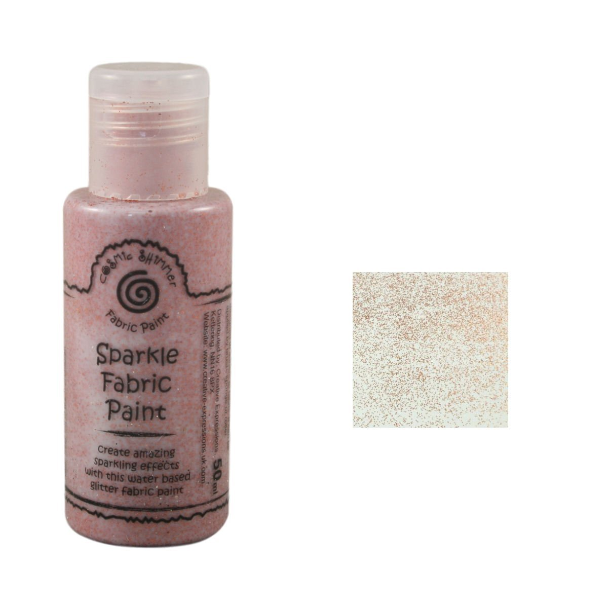 Cosmic Shimmer Fabric Paint, Copper Chic Creative Expressions CSFSPCOPCHIC