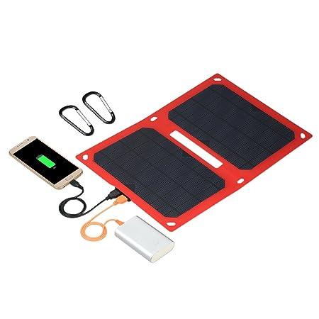 Weehey El Panel Solar Plegable portátil del Cargador Solar ...