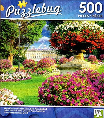 Royal Crescent Flower Garden, Bath, Avon, England - 500 Piece Jigsaw Puzzle - Puzzlebug - p ()