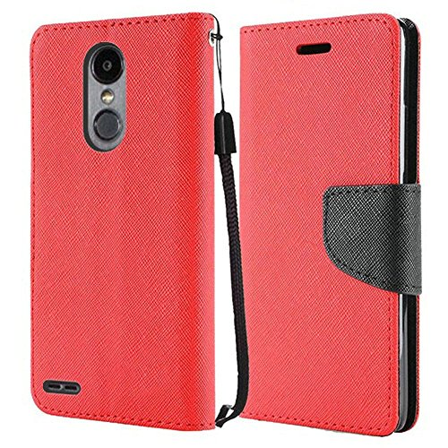 Samsung Phone Faceplates - Luckiefind Compatible with Samsung Galaxy A6 (2018 Release). Premium PU Leather Flip Wallet Credit Card Slot Cover Case (Wallet Red)