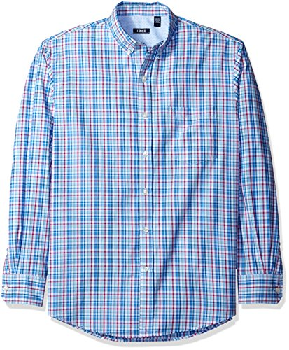 Izod Mens Saltwater Breeze Long Sleeve Shirt  Powder Blue  Medium