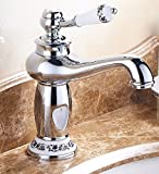 AWXJX The European style copper hot and cold bath sink gold plated Sink mixer