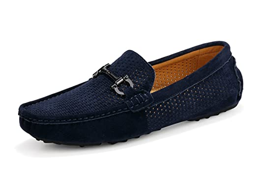 Men's Leather Slip-on Loafer Hollow Durable Breathable Comfortable