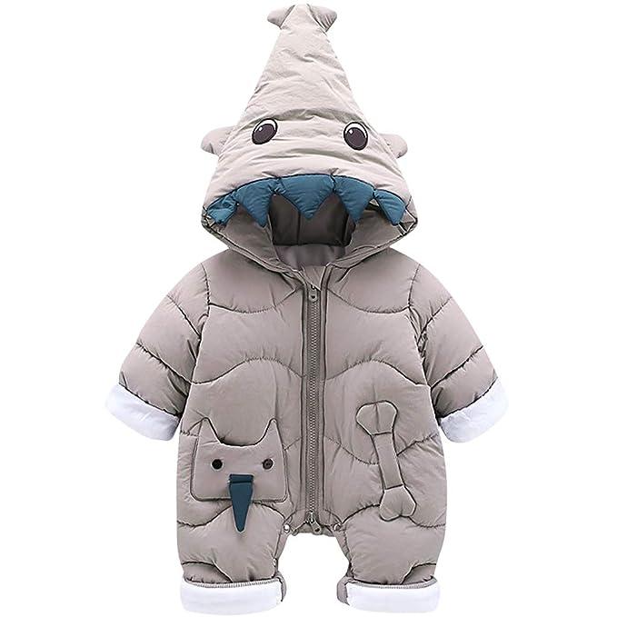 3b43a4755f2c Zilee Newborn Baby Long Sleeve Hooded Romper - Infant Warm Velvet ...