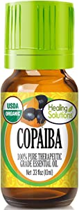 Organic Copaiba Essential Oil (100% Pure - USDA Certified Organic) Best Therapeutic Grade Essential Oil - 10ml