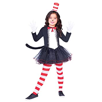 Child The Cat in the Hat Dress Set Costume Age 10,12 YEARS